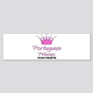 Portuguese Princess Bumper Sticker